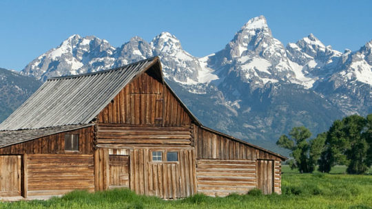 Moulton Barn in Grand Teton National Park, Jackson Hole Wyoming.