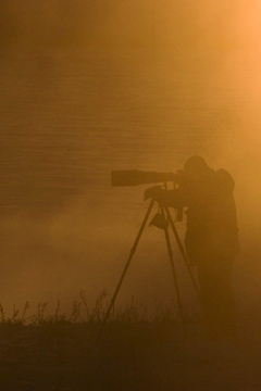 Photographer in Grand teton National Park photographing Kelly Warm Springs.