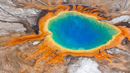 grand prismatic at Yellowstone