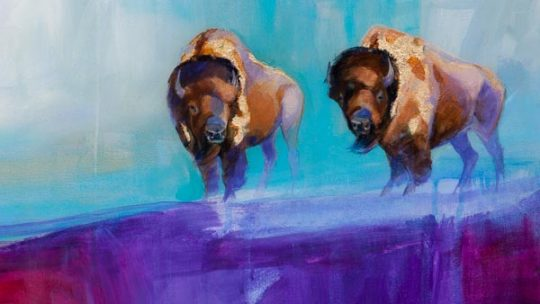 Original painting by Jackson Hole local artist Carrie Wild
