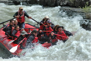 Whitewater Rafters Shoot The Rapids In Lunchcounter Rapid On The Snake River In Jackson Hole