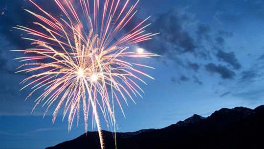 Fireworks Explode over Jackson Hole Mountain Resort as Jackson Hole Celebrates The Fourth Of July