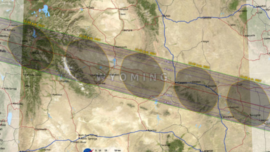 The Solar Eclipse Path Of 2017 Across Wyoming