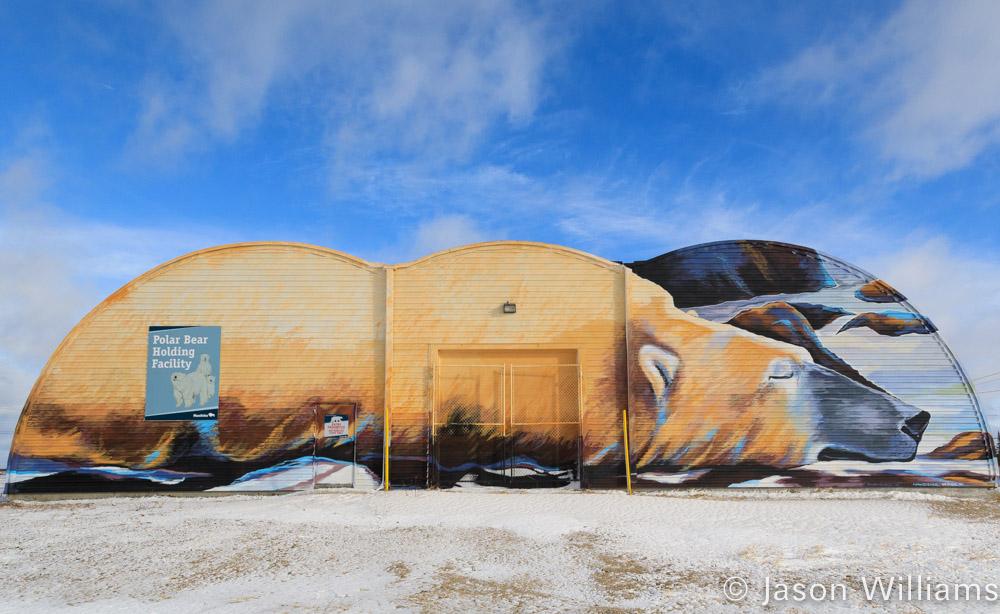 Polar bear holding facility, aka polar bear jail, outside of Churchill Manitoba.