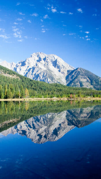 Reflection of Mount Moran in String Lake