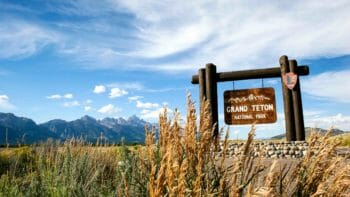 Entrance to Grand Teton National Park from the South.