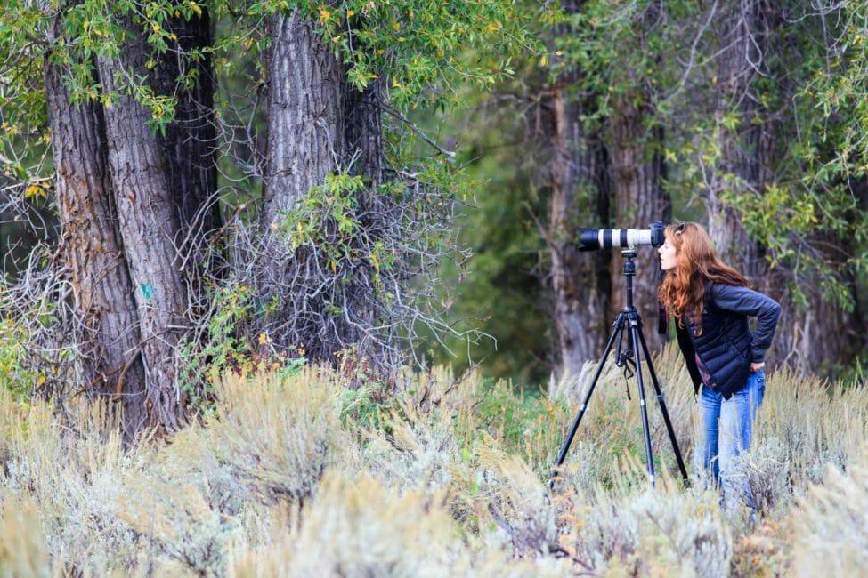 Photographer in Grand Teton National Park