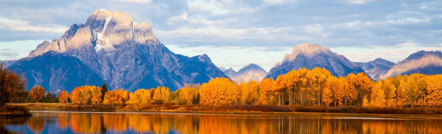 grand teton mountains in the fall