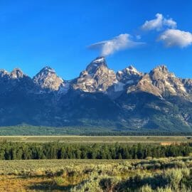 The Grand Teton Marks The Tallest Peak In The Middle Of The Teton Range Along The Western Edge Of Jackson Hole