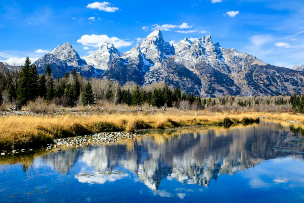 Reflection of Tetons in the Snake River