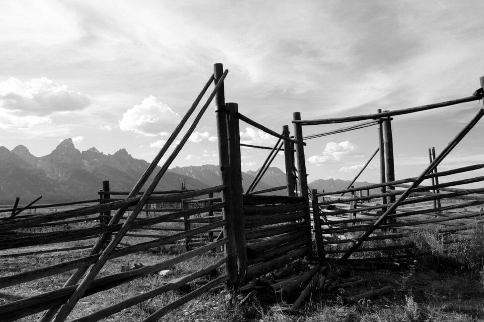 Historic Mormon Row in Grand Teton National Park.