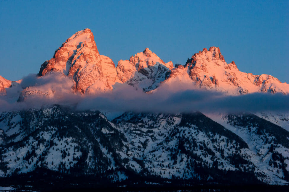 Sunrise on the Teton Range in Jackson Hole